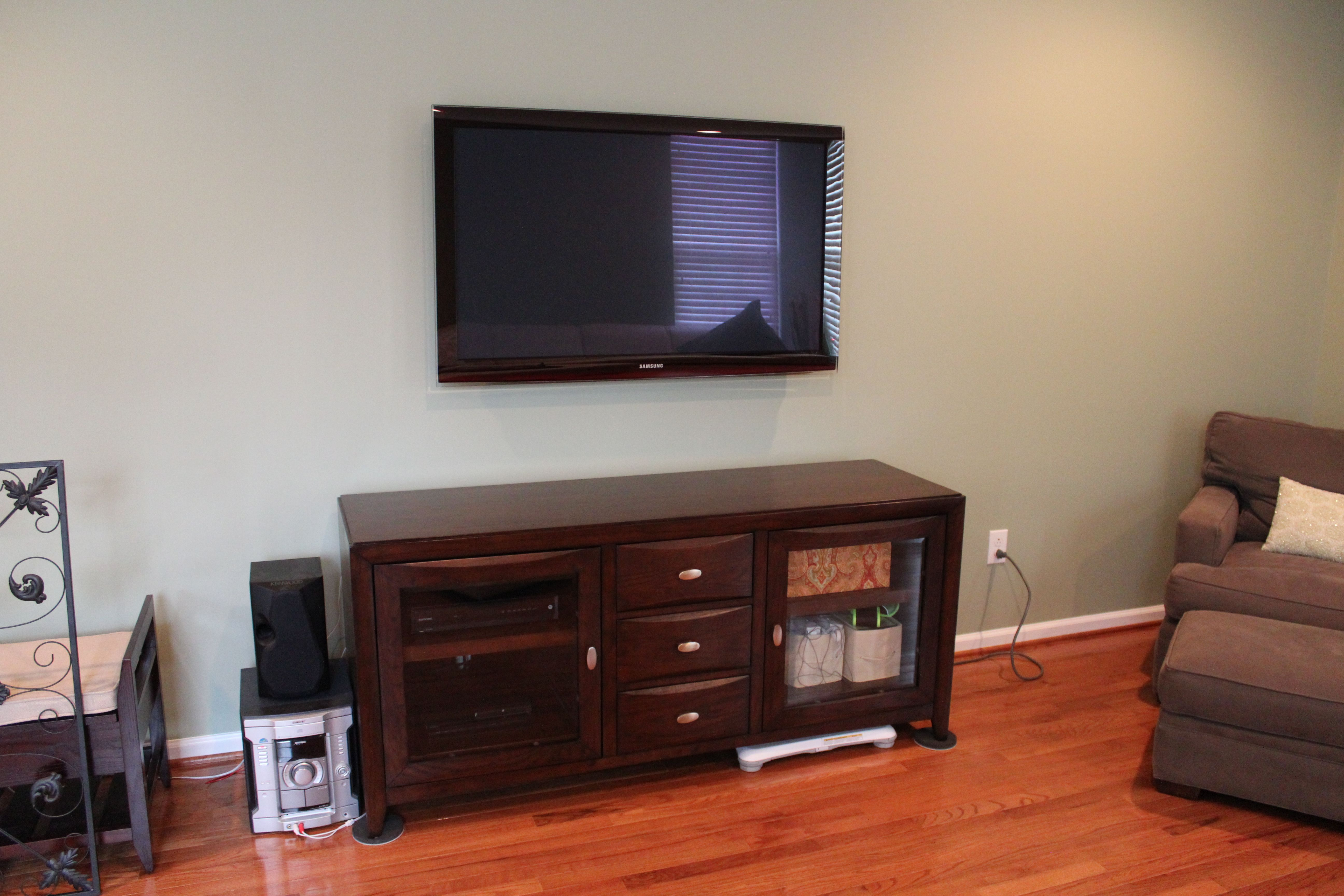 Hide Tv In Wall Tv On Wall Tv On Wall Ideas Wall Shelves Design Tv Shelving Units
